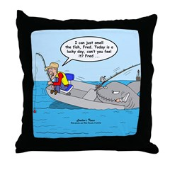 Fishing Luck Throw Pillow