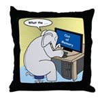Elephant Memory Throw Pillow
