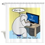 Elephant Memory Shower Curtain