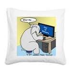 Elephant Memory Square Canvas Pillow