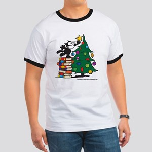 FELIX TOPPING THE TREE copy Ringer T