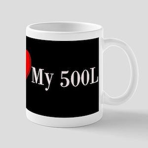 I Love My 500 L License Plate Mugs