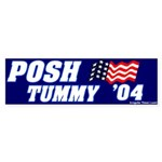 Posh Tummy Bumper Sticker Mockery