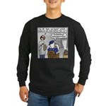 Duck at the Eye Doctor Long Sleeve Dark T-Shirt