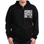 Duck at the Eye Doctor Zip Hoodie (dark)