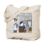 Duck at the Eye Doctor Tote Bag