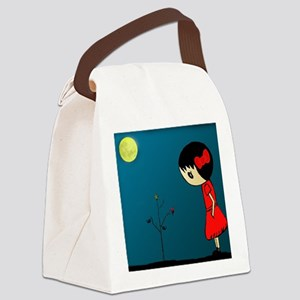 Grl.in.Rd.Dress.XMAS Canvas Lunch Bag