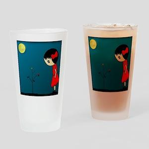 Grl.in.Rd.Dress.XMAS Drinking Glass