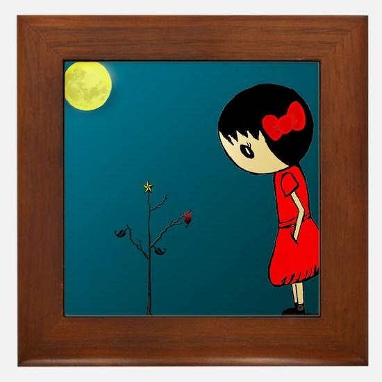 Grl.in.Rd.Dress.XMAS Framed Tile