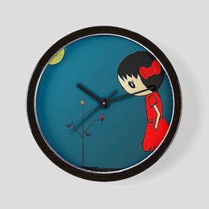 Grl.in.Rd.Dress.XMAS Wall Clock