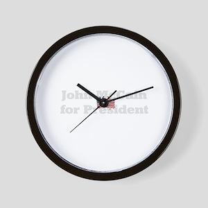 John McCain for President  Wall Clock