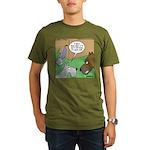 Dog and Vacuum Organic Men's T-Shirt (dark)