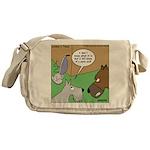 Dog and Vacuum Messenger Bag