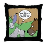 Dog and Vacuum Throw Pillow