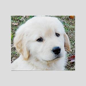 Golden Retreiever Puppy Keepsake Box Throw Blanket