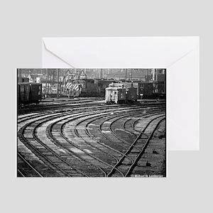 RR--Switching Tracks-1977- Ottumwa-I Greeting Card
