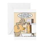 Dog Water Supply Greeting Cards (Pk of 10)