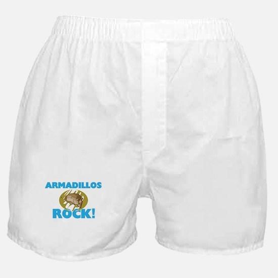 Armadillos rock! Boxer Shorts
