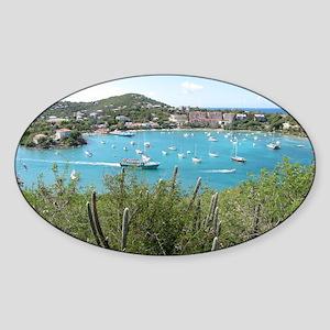 St. John in the US Virgin Island Sticker (Oval)