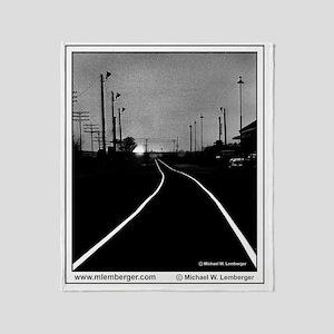 XRR- Railroad Tracks into the Sunset Throw Blanket