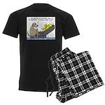 Dog Shrink Men's Dark Pajamas