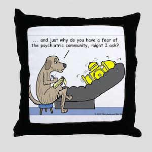 Dog Shrink Throw Pillow