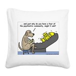 Dog Shrink Square Canvas Pillow