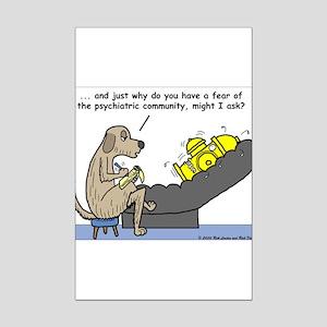 Dog Shrink Mini Poster Print