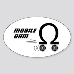 Mobile OHM Oval Sticker
