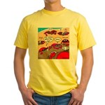 Crab Pickup Lines Yellow T-Shirt
