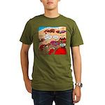 Crab Pickup Lines Organic Men's T-Shirt (dark)