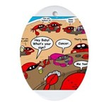Crab Pickup Lines Ornament (Oval)