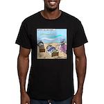 Cuddle Fish Men's Fitted T-Shirt (dark)