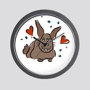 Loving Rabit Wall Clock