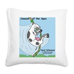 Cowzan of the Apes Square Canvas Pillow