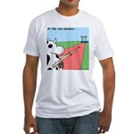 Cow Olympics Fitted T-Shirt