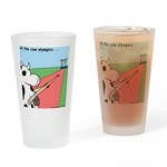 Cow Olympics Drinking Glass