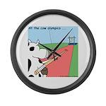 Cow Olympics Large Wall Clock