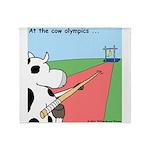 Cow Olympics Throw Blanket