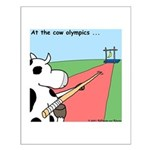 Cow Olympics Small Poster