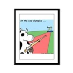 Cow Olympics Framed Panel Print