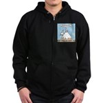 No Cow Incidences Zip Hoodie (dark)