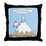 No Cow Incidences Throw Pillow