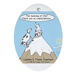 No Cow Incidences Ornament (Oval)