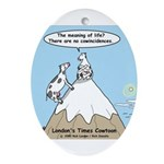 No Cow Incidences Ornament (Oval)