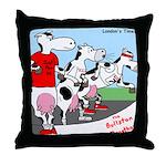The Bullston Mooathon Throw Pillow
