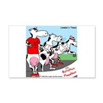 The Bullston Mooathon 20x12 Wall Decal
