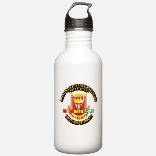 Army - 801st Maintenance Bn w SVC Ribbon Water Bottle