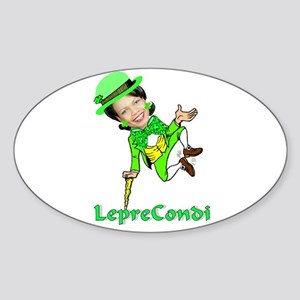 LepreCondoleezza Oval Sticker