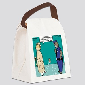 Curiosity Killed the Cat Canvas Lunch Bag